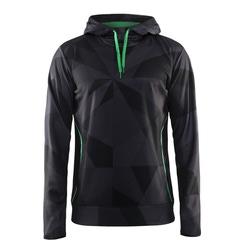 Толстовка Craft M Logo Hood мужская черн/зеленый