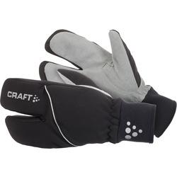 Перчатки утеплённые трёхпалые Craft Split Finger чёрный ®