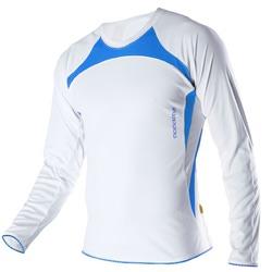 Рубашка NONAME Running унисекс бел/син