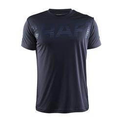 Футболка Craft Prime Run Logo муж т.серый