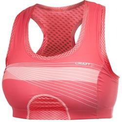 Бюстгальтер спортивный Craft Cool Sports Super Bra розовый/принт