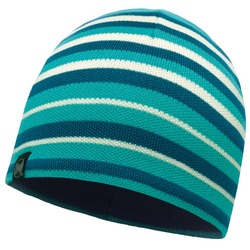 Шапка Buff Knitted&Polar Hat Laki Stripes Lake Blue