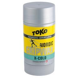 Мазь Toko Grip Wax твёрдая, X-cold, -12°/-30°С, 25г.