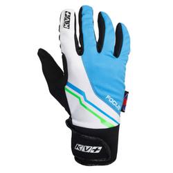 Перчатки KV+ Focus син/белый