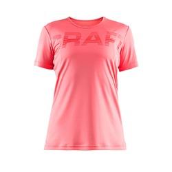 Футболка Craft W Prime Run Logo женская св.розовый