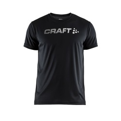 Футболка Craft M Prime Run Logo мужская черный