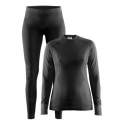 Термобелье Комплект Craft W Seamless Zone женский черн/серый