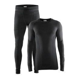 Термобелье Комплект Craft M Seamless Zone мужской черн/серый