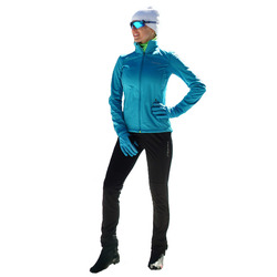 Разминочный костюм NordSki W Motion женский голуб/черный
