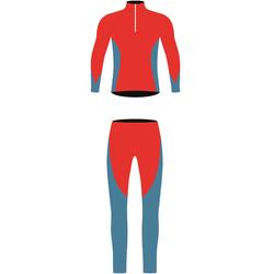Комбинезон лыжный JR Nordski Active красн/син