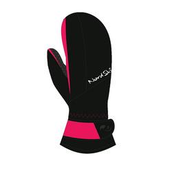 Варежки NordSki W Arctic мембрана женские черн/розовый