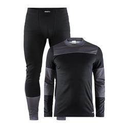 Термобелье Комплект Craft M Baselayer мужской черн/серый