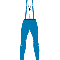 Разминочные штаны на лямках NordSki М Premium мужские голубые