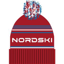 Шапка NordSki Stripe Rus красный