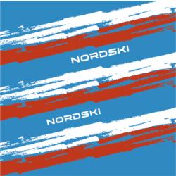Баф Nordski Stripe син/красн