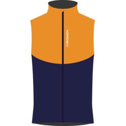 Жилет NordSki M Premium SoftShell мужской оранж/т.синий