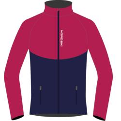 Разминочная куртка NordSki W Premium SoftShell женская розов/т.синий