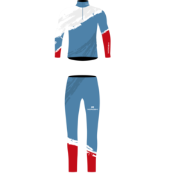 Комбинезон лыжный NordSki Premium Rus голубой