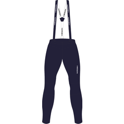 Разминочные штаны на лямках NordSki JR Premium детские т.синий