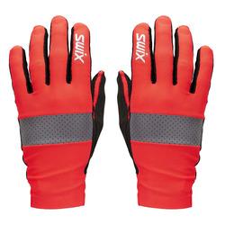 Перчатки лыжероллерные Swix Radiant красный/неон