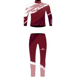Комбинезон лыжный NordSki JR Premium детский бордо/розовый