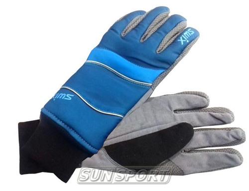 Перчатки Swix Classic    муж холод синий